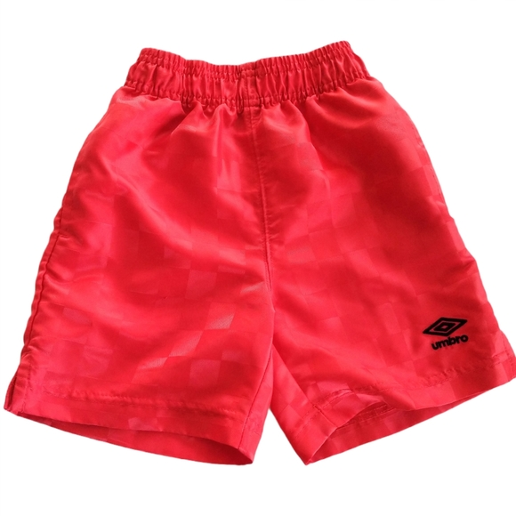 Umbro Boys Pull On Shorts Red Size 4